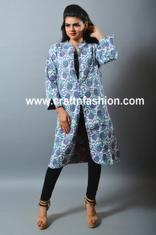 Indo Western Style Long Reversible Jacket