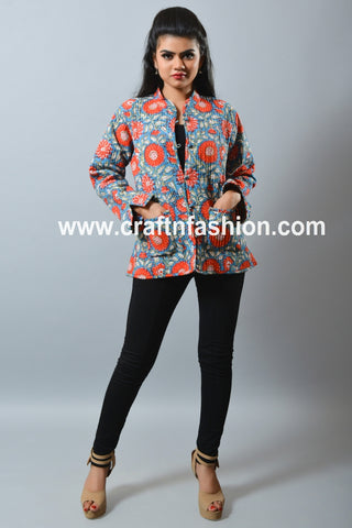 Fashion Wear Reversible Kantha Jacket