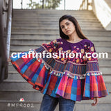 Women's Fashion Wear Embroidered Poncho Top