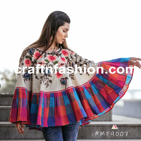 Indo Western Style Fashion Wear Poncho