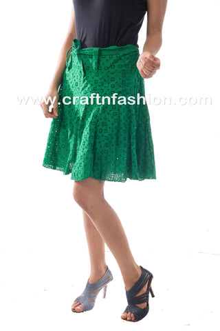 2018 Designer Green Mini Hakoba Skirt