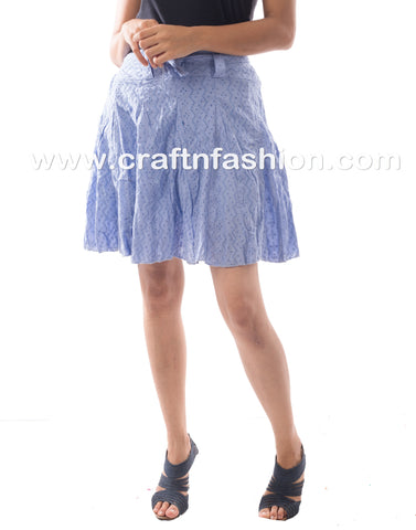 Latest Designer Hakoba embroidered Mini Skirt