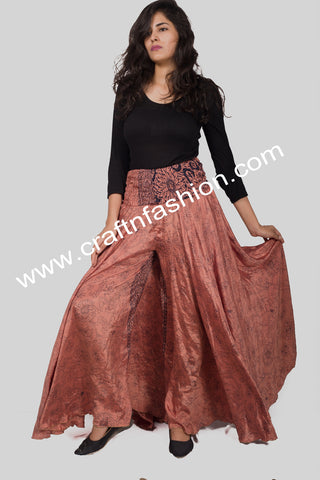 Designer Silk Crepe Belly Trouser