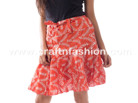 Fashion Wear Cotton Embroidered Hakoba Skirt