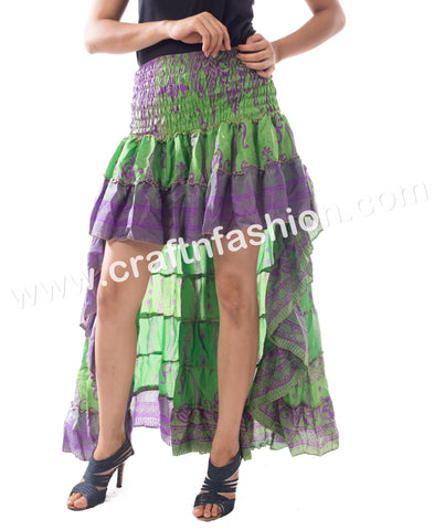 Latest Designer Poly - Silk Crepe Ibiza Skirt.