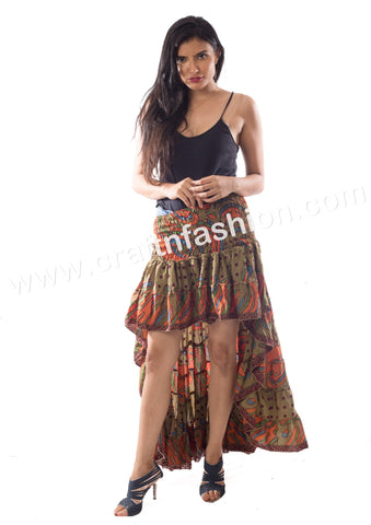 Spanish Dance Wear Bohemian Ibiza Skirt.