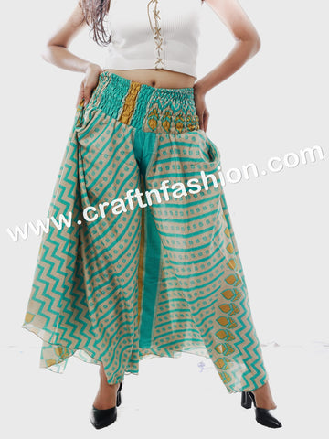 Bohemian Silk Sari Customized Palazzo