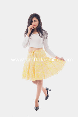 Cotton Fashion Wear Chikankari Hakoba Skirt