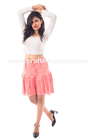 Knee Length Summer Wear Cotton Hakoba Skirt
