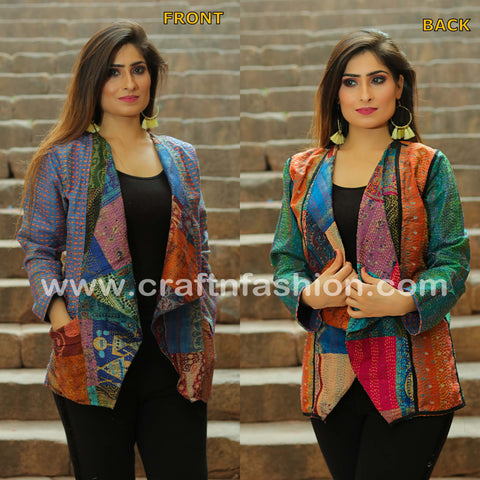 Boho Gypsy Kantha Embroidery Shrug