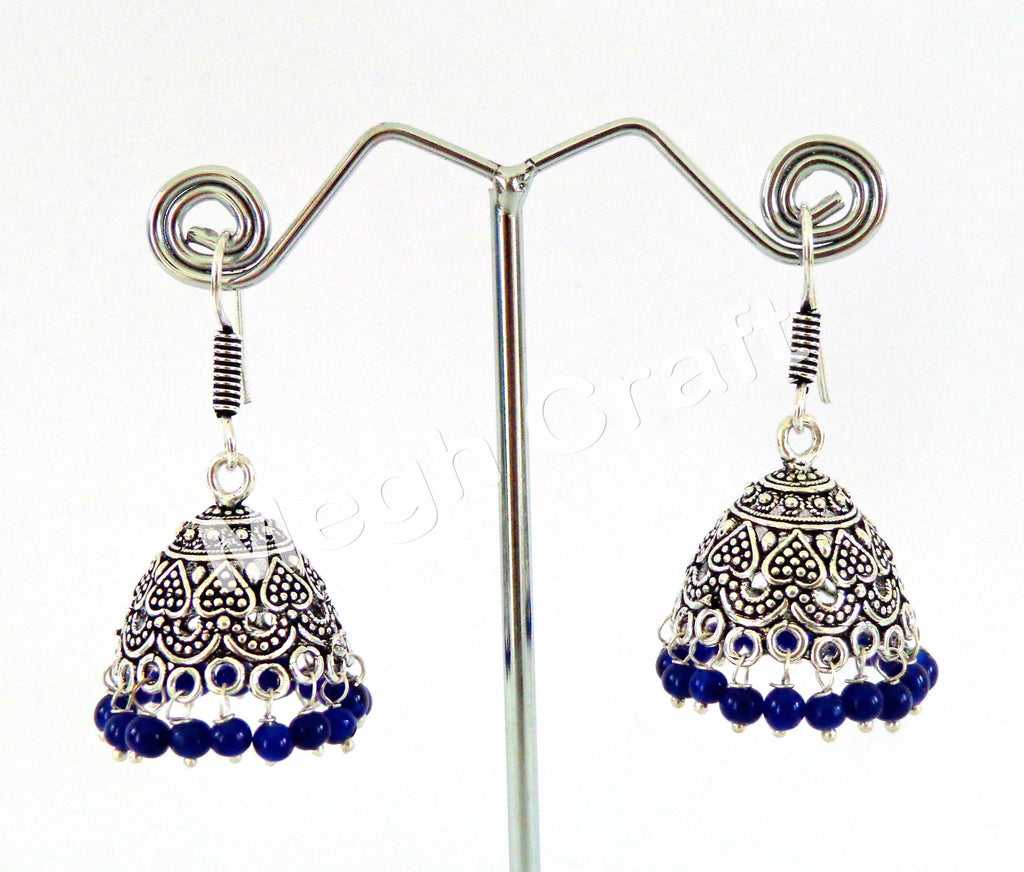 Fashion Wear Oxidized Jhumka Earrings