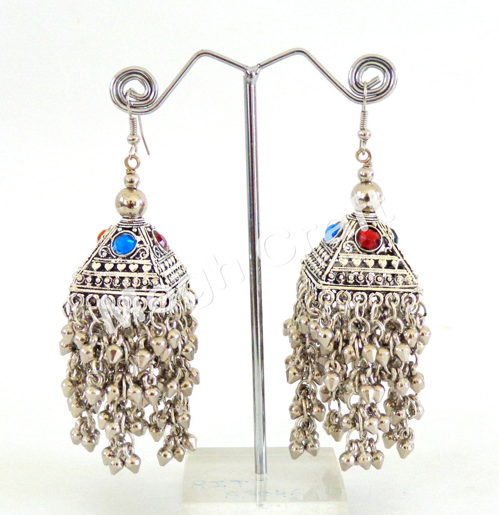 Traditional Navratri Oxidised Jhumka