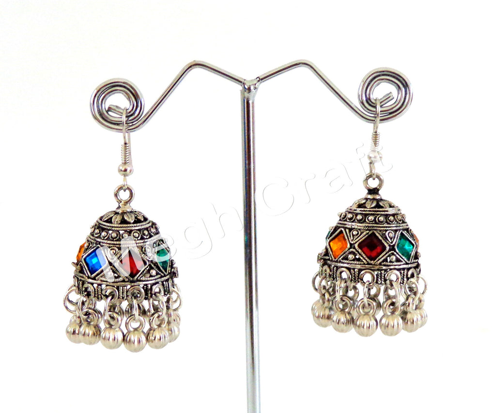 Tribal Jhumkas  Oxidized Earrings