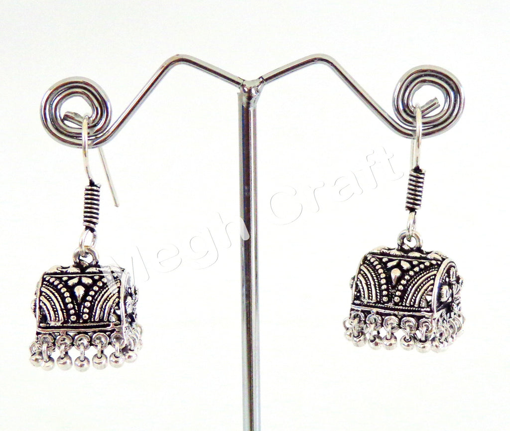 Traditional Handmade Oxidised Jhumki
