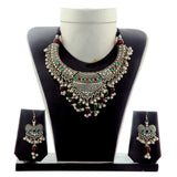 Indian Fusion Oxidised Jewelry Set