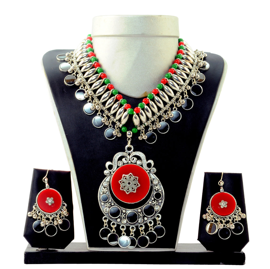 Tribal Oxidised Necklace Set