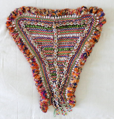 Glass  Beaded Vintage Patch