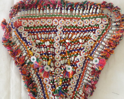 1960 Vinatge Glass Beaded Buttons Patch