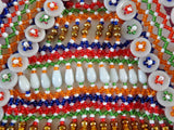 Vintage Handmade Glass Beads Patch