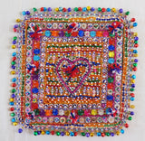Vintage Home Decor Beaded Patch