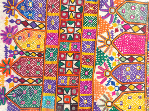 Kutchi Beaded Mirror work