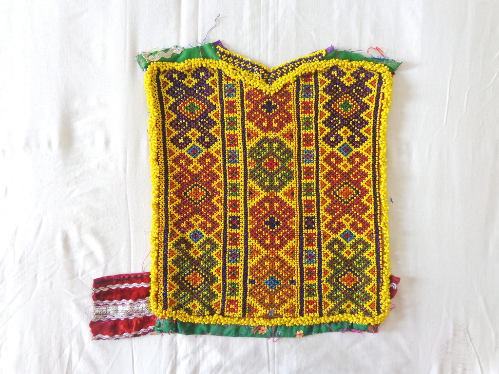 Afghani Embroidered Beaded Patch For Jacket