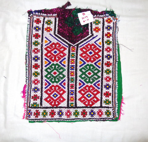 Indian Vintage Beaded Patch Yoke