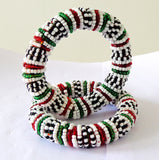 Beaded Colorful Bangles Bracelets