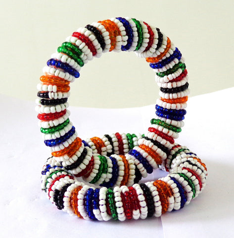 Colorful Beaded Bangles / Bracelets