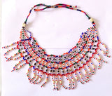 Vintage  Boho Glass Beaded Necklace