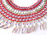 Red Glass Beads Banjara Pearl Necklace
