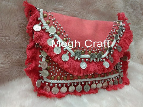 Women's Designer Boho Hippie Coin Clutch Purse