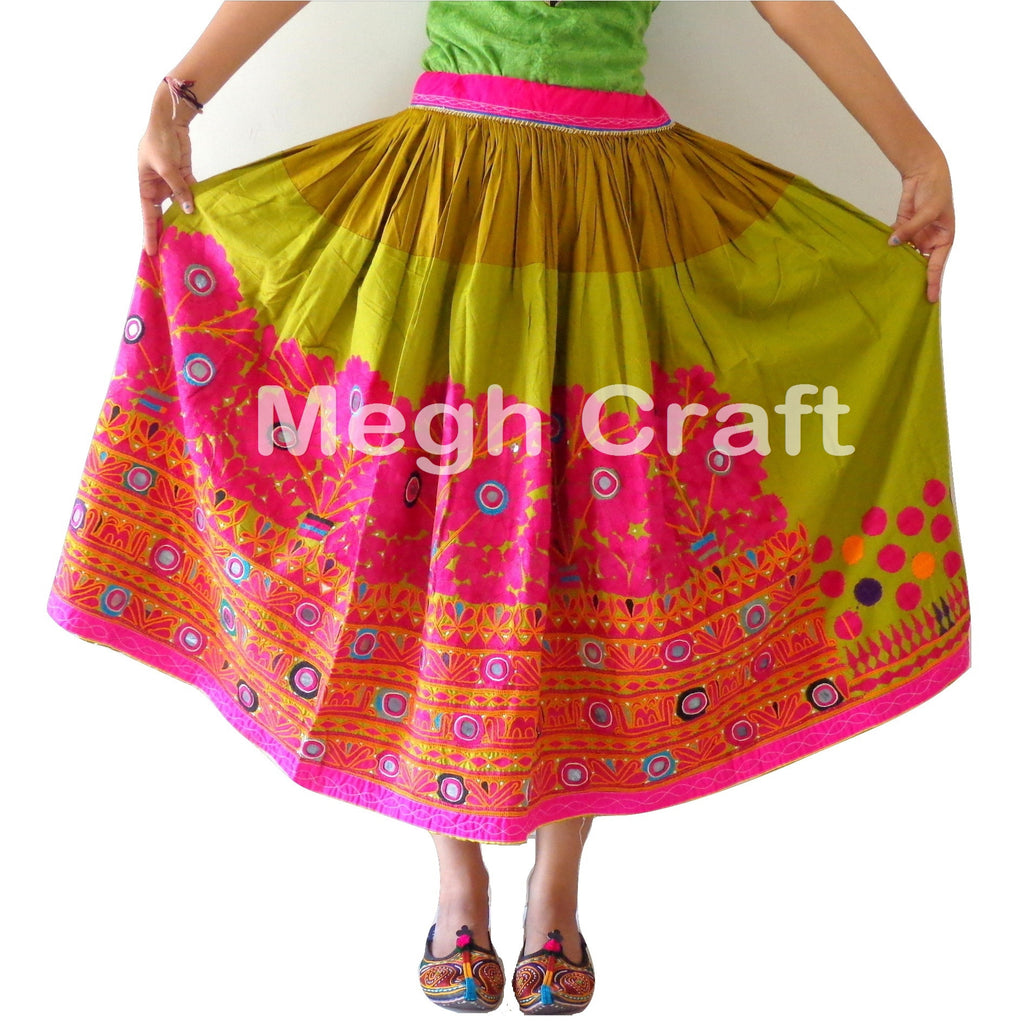 Vintage kutchi Embroidered  Skirt