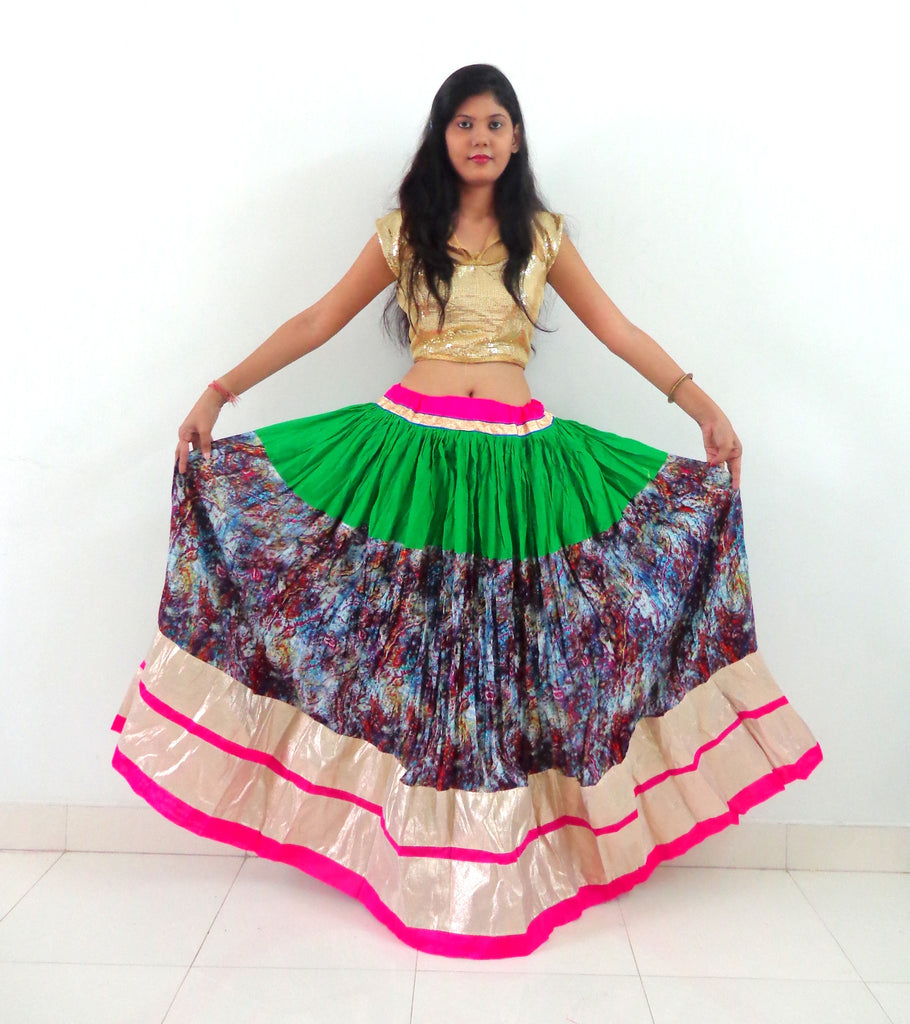 Colorful Gujarati Navratri special Fashion Skirt