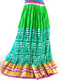 Goldan Bordered Green Fashion Skirt