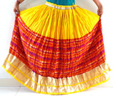 Cotton Skirt With Golden Border