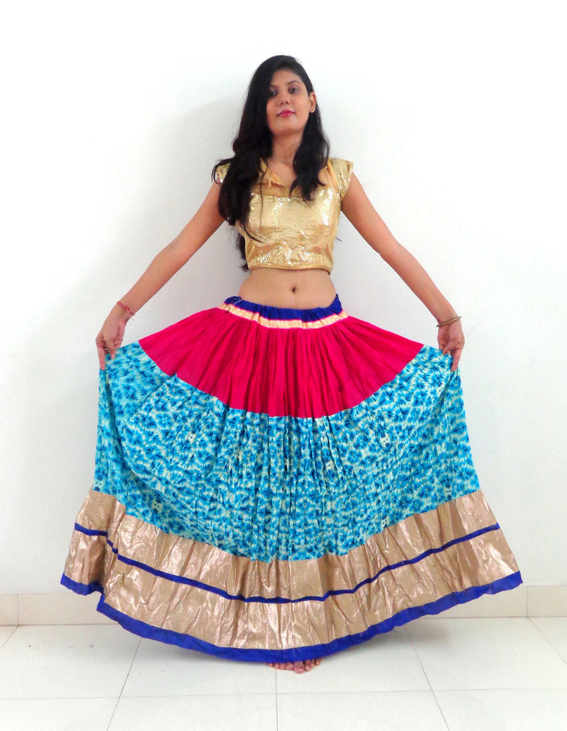 Party Wear Printed Navratri Skirt