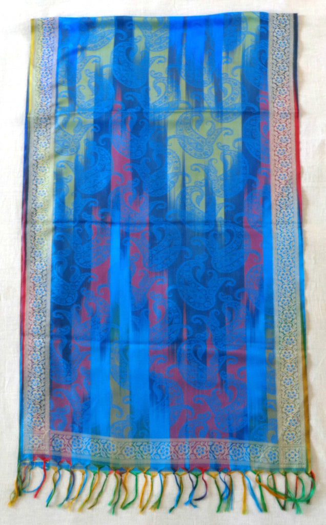 Designer Colorful Silk Stole