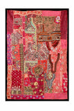 Indian Gujarati Patchwork Tapestry  40 x 60""