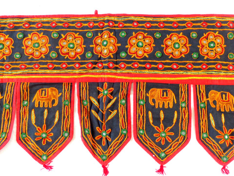 Embroidered Mirror Work Toran