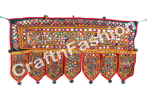 Vintage Kutch Work Mirror Patchwork Toran