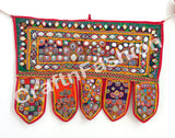 Embroidered Handmade Mirror Work Vintage Toran