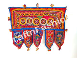 Vintage Indian Embroidred Mirror work Door Hanging