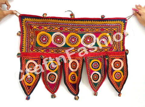 Gujarati  Cotton Hand Embroidered Toran