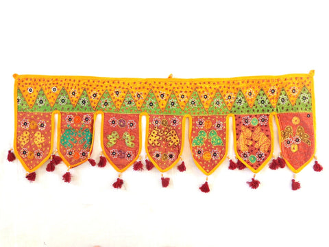 Gujarati Vintage Embroidered Home Decor Toran