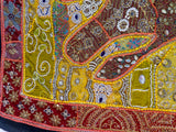 1960's Elephant Traditional Beaded Tapestry