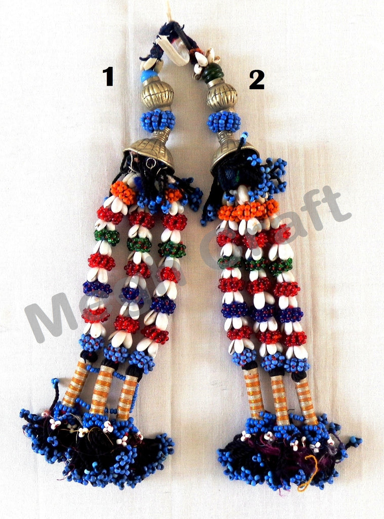 Banjara Indian long Bead Tassel ( 2PC)
