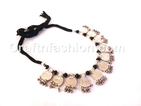 1960's Afghani Style Coin Necklace