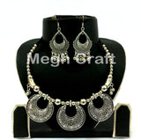 Women Navratri Wear Oxidized Necklace set