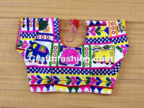 Designer Kutchi Animal work Blouse